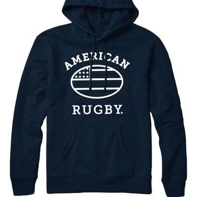 American Rugby (White) Hoodie