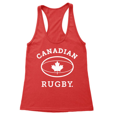Canadian Rugby (White) Women's Racerback Tank