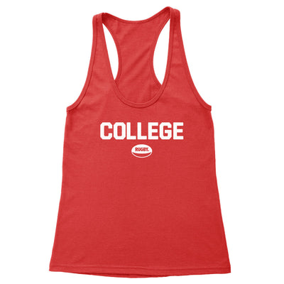 College Rugby (White) Women's Racerback Tank
