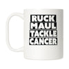 Ruck Maul Tackle Cancer (Black) Mug
