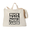 Ruck Maul Tackle Cancer (Black) Tote Bag
