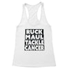 Ruck Maul Tackle Cancer (Black) Women's Racerback Tank