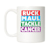 Ruck Maul Tackle Cancer (Color) Mug