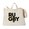 Rugby in 3D Tote Bag