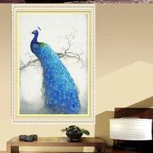 Load image into Gallery viewer, Peacock 35x50cm(canvas) partial round drill diamond painting
