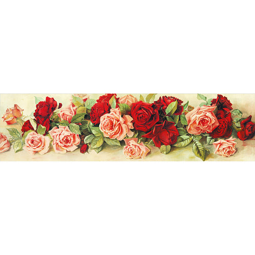 Rose 90x30cm(canvas) partial round drill diamond painting