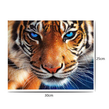 Load image into Gallery viewer, Tiger 30x25cm(canvas) full round drill diamond painting