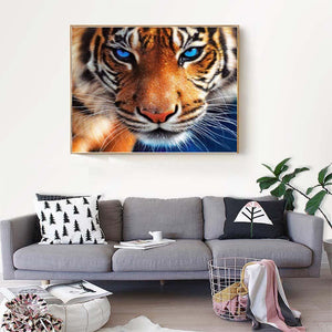Tiger 30x25cm(canvas) full round drill diamond painting