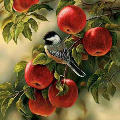 Fruit Bird 30x30cm(canvas) partial square drill diamond painting