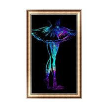 Load image into Gallery viewer, Dancer 30x48cm(canvas) partial round drill diamond painting