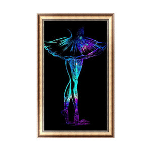 Dancer 30x48cm(canvas) partial round drill diamond painting