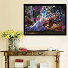 Load image into Gallery viewer, Tiger 30x40cm(canvas) partial round drill diamond painting