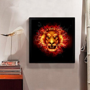 Tiger 30x40cm(canvas) partial round drill diamond painting