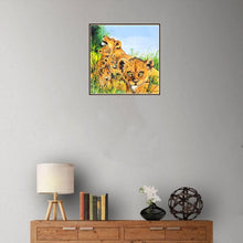 Load image into Gallery viewer, Tiger 25x25cm(canvas) partial round drill diamond painting