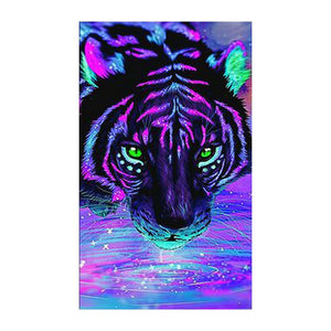 Colorful Tiger 30x50cm(canvas) full round drill diamond painting