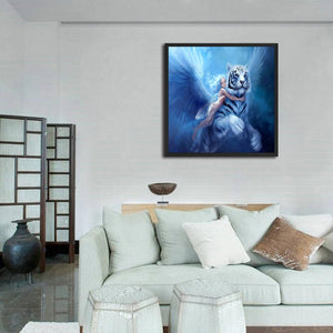 Tiger 30x30cm(canvas) full round drill diamond painting