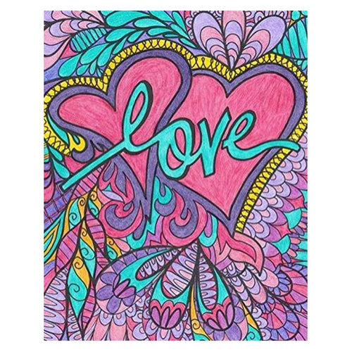 Love 30x40cm(canvas) full round drill diamond painting