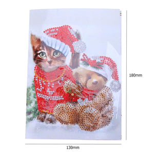 5D DIY Diamond Painting Christmas Greeting Cards Cross Stitch Embroidery