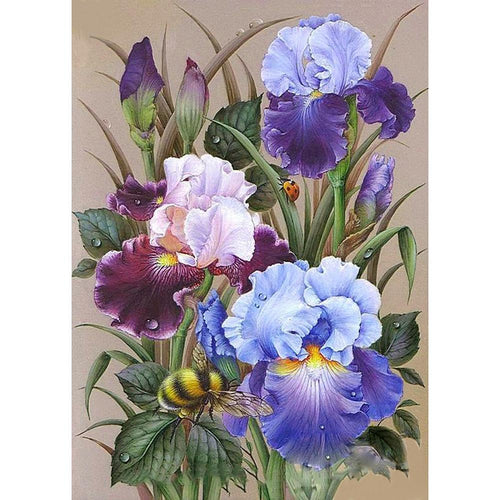 Flowers 40x30cm(canvas) full round drill diamond painting