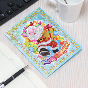 5D DIY Special-shape Diamond Painting Xmas Tree Elk Christmas Greeting Card