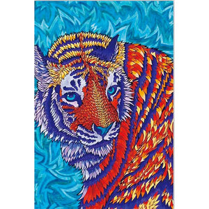 Tiger Animal 37x27cm(canvas) beautiful special shaped drill diamond painting