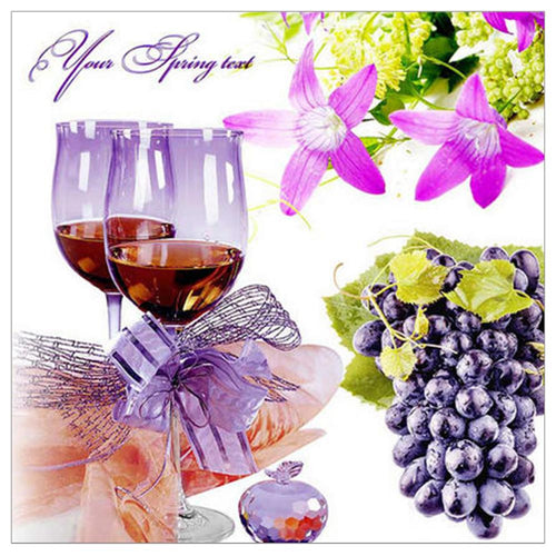 Grapes Wine 30x30cm(canvas) full round drill diamond painting