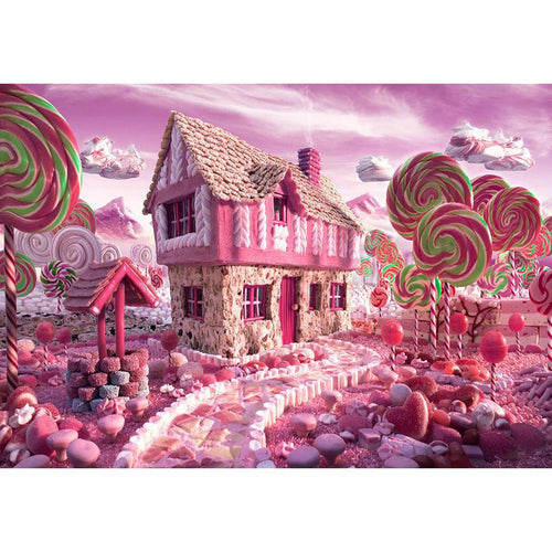 Pink Candy Stick 40x30cm(canvas) full round drill diamond painting