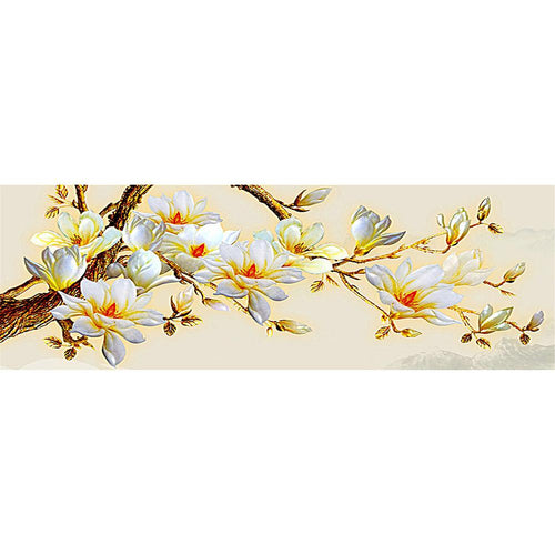 Yellow Flower 80x30cm(canvas) full round drill diamond painting