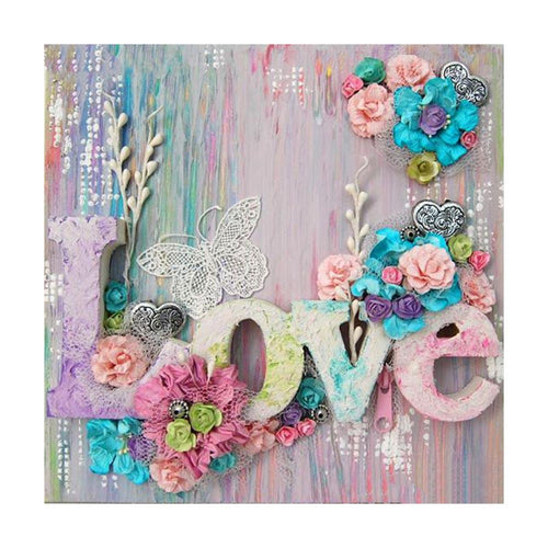 Love 30x30cm(canvas) full round drill diamond painting