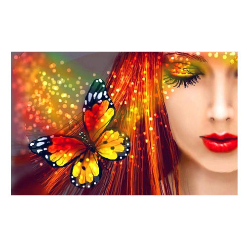 Butterfly Beauty 40x30cm(canvas) full round drill diamond painting