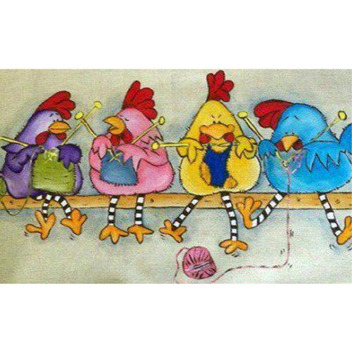 Cute Chicks 30x50cm(canvas) full square drill diamond painting