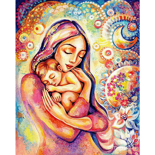 Mother Love 40x30cm(canvas) full round drill diamond painting