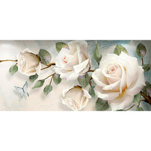 Load image into Gallery viewer, Flower 90x45cm(canvas) full round drill diamond painting