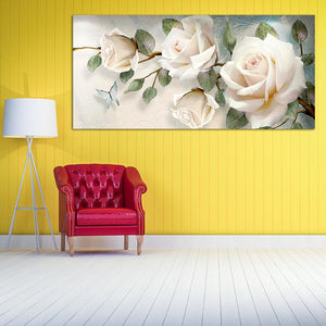 Flower 90x45cm(canvas) full round drill diamond painting