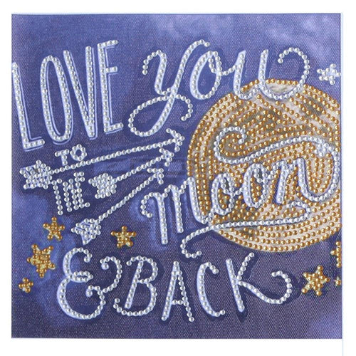 LOVE YOU 25x25cm(canvas) beautiful special shaped drill diamond painting