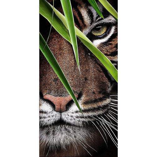 Tiger 85x45cm(canvas) full round drill diamond painting