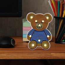Load image into Gallery viewer, Creative DIY Full Drill Diamond Painting Bear LED Light Bedroom Night Lamp