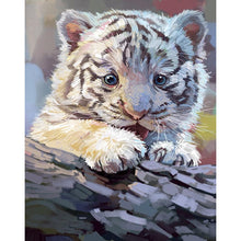 Load image into Gallery viewer, Baby Tiger 25x30cm(canvas) partial round drill diamond painting