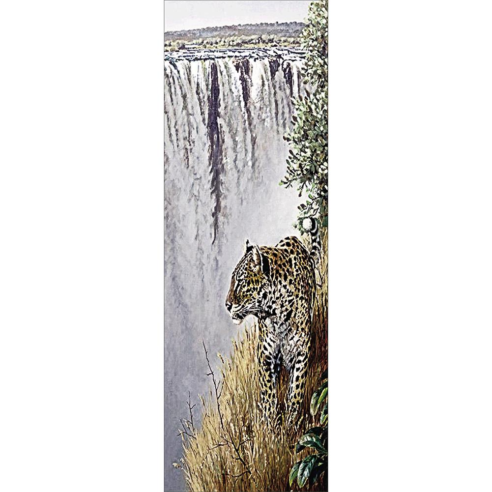 Tiger 20x50cm(canvas) full round drill diamond painting