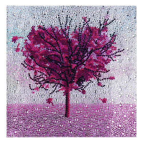 Love Tree 30x30cm(canvas) full special shaped drill diamond painting