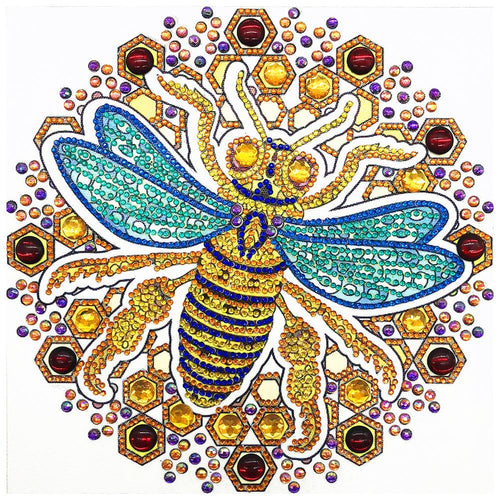 Bee 30x30cm(canvas) beautiful special shaped drill diamond painting