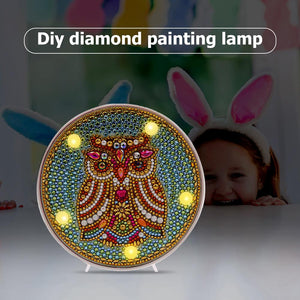 DIY Full Drill Diamond Painting Lamp Butterfly Animal LED Light Home Decor