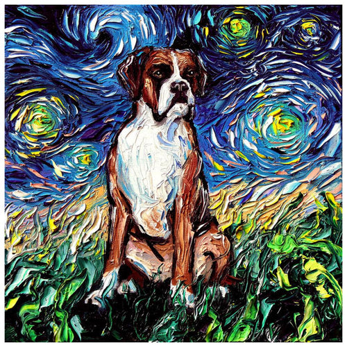 Oil Animal 30x30cm(canvas) full round drill diamond painting