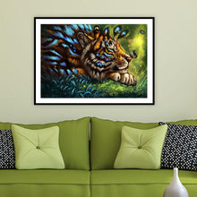 Load image into Gallery viewer, Flower Tiger 40x30cm(canvas) full round drill diamond painting