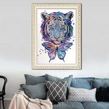 Load image into Gallery viewer, Tiger Butterfly 30x40cm(canvas) beautiful special shaped drill diamond painting