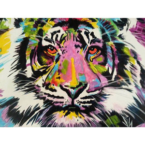 Tiger 40x30cm(canvas) full round drill diamond painting