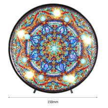 Load image into Gallery viewer, DIY LED Diamond Painting Mandala Full Drill Special Shaped Light Home Decor