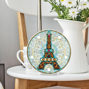 DIY Full Drill Diamond Painting Scenery Embroidery Special Shape LED Light