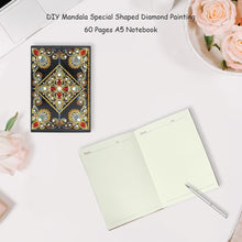 Load image into Gallery viewer, DIY Mandala Special Shaped Diamond Painting 60 Pages A5 Notebook Diary Book