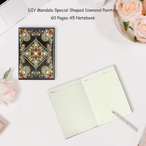DIY Mandala Special Shaped Diamond Painting 60 Pages A5 Notebook Diary Book